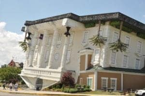 The outside of WonderWorks in Pigeon Forge.
