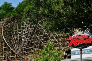 lightning rod roller coaster at dollywood